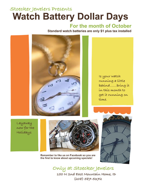 Stoecker Jewelers Oct 2012 Dollar Days